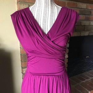 NWT Anthropologie Velvet Whirligig Purple Dress XS